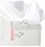 T-shirt Vodafone McLaren Mercedes Car & Motion (Low Maintenance) da donna