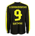 2013-14 Borussia Dortmund Away Long Sleeve Shirt (Lewandowski 9)