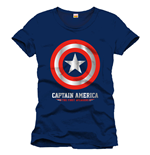 Captain America T-Shirt Logo The First Avengers navy