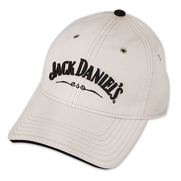 Jack Daniels Whiskey Official Adjustable Ivory Hat Baseball Cap