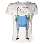 t-shirt-adventure-time-finn-in-weiss-xl