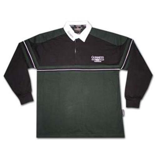 Green Long Sleeve Rugby Polo Shirts
