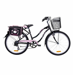 Hello Kitty Bike-  Romantic Cruise 24 - 6 Speeds BLACK/PINK