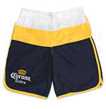 CORONA EXTRA Men's Navy And Gold Board Shorts