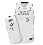 Miami Heat Dwyane Wade White Hot Revolution 30 Swingman Jersey