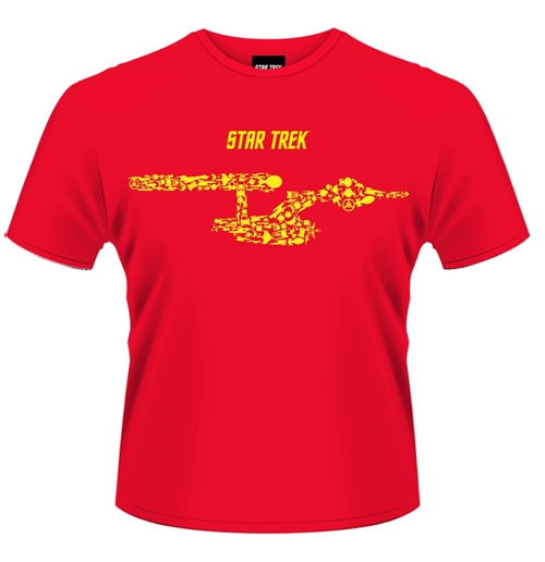 Image of T-shirt Star Trek Ships Of The Line (Rossa)
