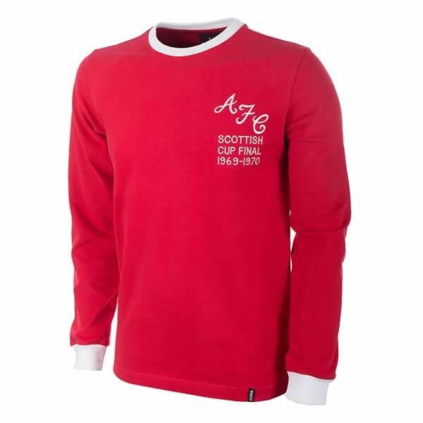 Image of T-shirt manica lunga Aberdeen FC 1969/70 Retro
