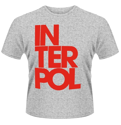 Image of T-shirt Interpol con logo staccato