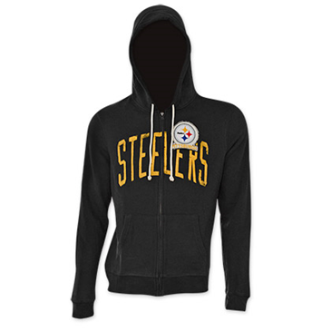 Offerta: NFL PITTSBURGH STEELERS Junk Food Black Hooded Sweatshirt