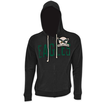 Offerta: NFL PHILADELPHIA EAGLES Junk Food Black Hooded Sweatshirt