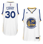 Canotta Golden State Warriors Stephen Curry adidas White 2014-15 New Swingman Home