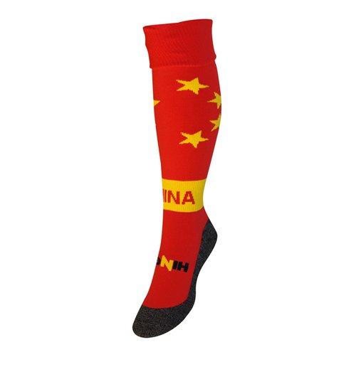 meia-china-futebol-vermelho