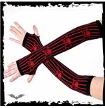 armstulpen-schwarz-rote-nadelstreifen-