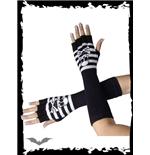 lange-schwarz-wei-e-handschuhe
