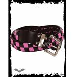 schwarz-pinker-schachbrett-gurtel