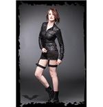 schwarze-bluse-in-lederoptik