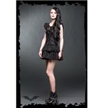 ruschen-minikleid-mit-netzeinsatz-und-zierband