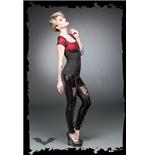 latex-optik-leggings-mit-schnurungen-und-spitze