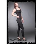 schwarze-leggings-mit-schnurung-und-schleifendruck