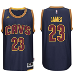 Mens Cleveland Cavaliers LeBron James adidas Navy Blue 2014-15 New Swingman CavFanatic Jersey