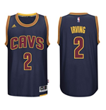 Mens Cleveland Cavaliers Kyrie Irving adidas Navy Blue 2014-15 New Swingman CavFanatic Jersey
