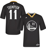 adidas Klay Thompson Golden State Warriors Swingman Slate Sleeved Jersey
