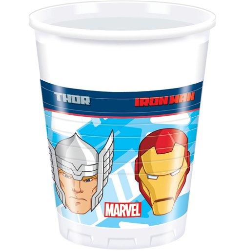 Image of        Avengers Assemble - 8 Bicchieri Plastica 200 Ml.