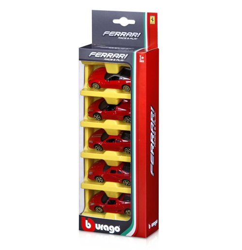 Image of Ferrari Race & Play - Ferrari 1:64 - 5 Pack