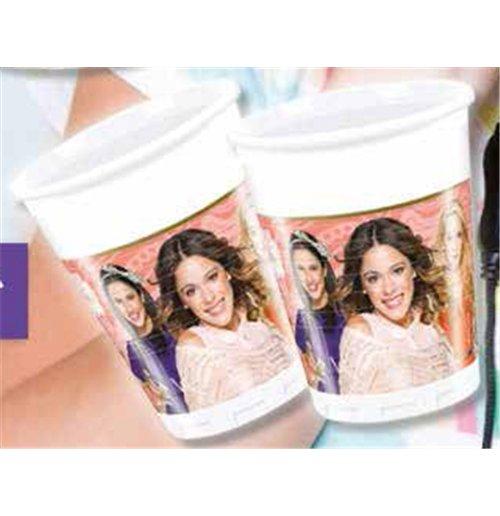 Image of Violetta Music Passion - Set 8 Bicchieri Di Plastica