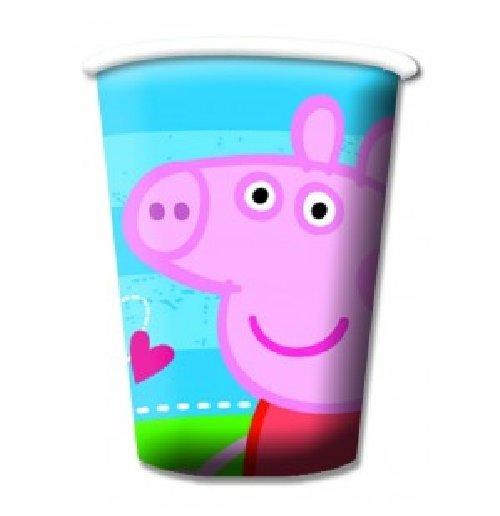 Image of Peppa Pig  - 8 Bicchieri Carta 180/200 Cc