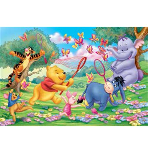 Image of Winnie The Pooh - Puzzle Double-Face Plus 108 Pz