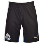 2015-2016 Newcastle Home Football Shorts (Black)