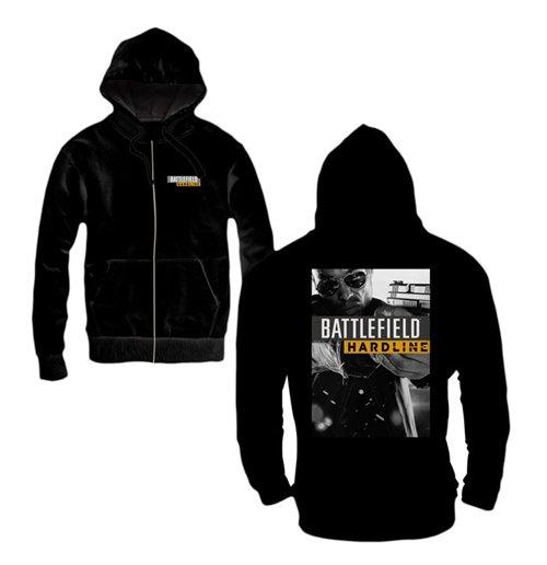 Image of Battlefield Hardline - Hardline Poster Zipped Hoodie Black (felpa Con Cappuccio E Zip Uomo )