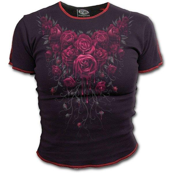 Image of T-shirt Spiral - Blood Rose