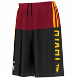 2015 Miami Heat Adidas Summer Run Shorts (Black)