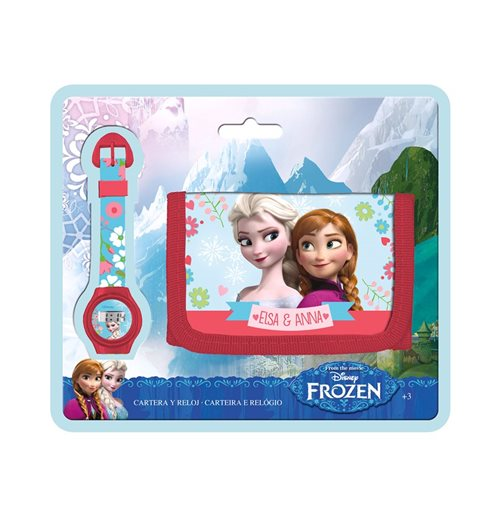 Image of Set Regalo Orologio+portafoglio Frozen
