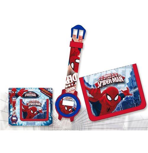Image of Set Regalo Orologio+portafoglio Spiderman