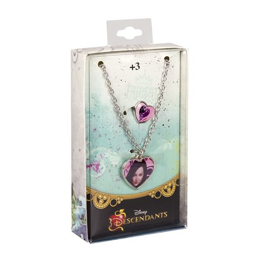 Image of Set Collana+anello In Metallo Descendants Rosa
