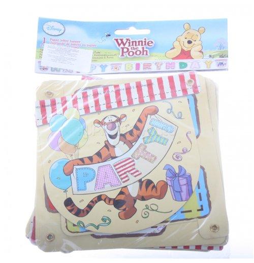 Image of Winnie The Pooh - Scritta Happy Birthday