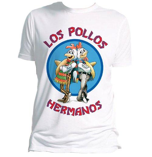 Image of Breaking Bad - Los Pollos Hermanos (WHITE) (T-SHIRT Uomo )