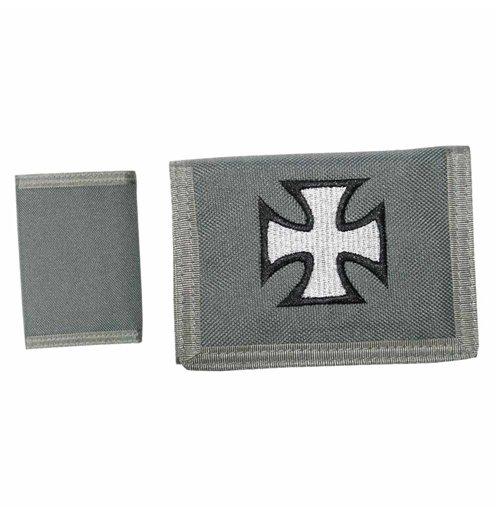 Image of Iron Cross - Charcoal Velcro (Portafoglio)