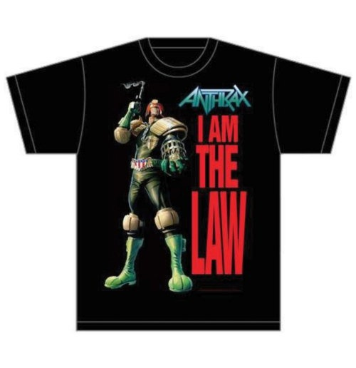 Image of T-shirt Anthrax I am the Law