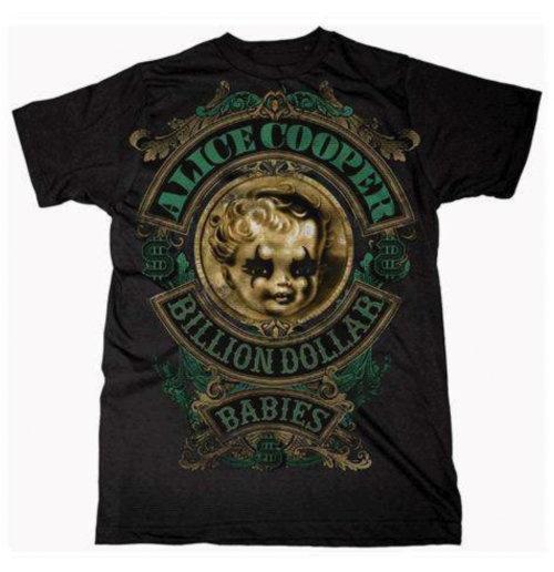 Image of T-shirt Alice Cooper Billion Dollar Baby Crest