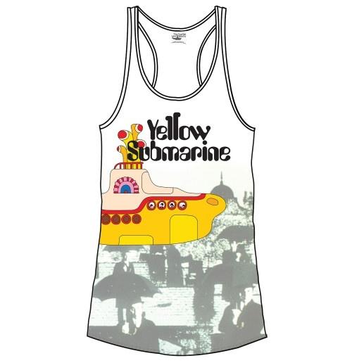 camiseta-de-suspensorios-beatles-yellow-sub-brollies-de-mulher