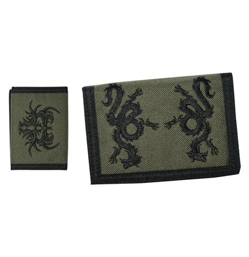 Image of Tribal - Army Green Velcro (Portafoglio)