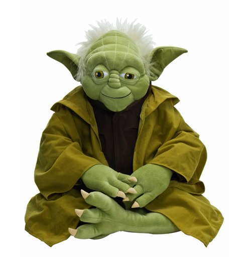 Image of Star Wars - Peluche Maxi Yoda Seduto 60 Cm