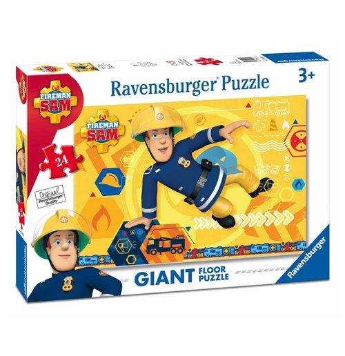 Image of Ravensburger 05446 - Puzzle Da Pavimento 24 Pz - Sam Il Pompiere