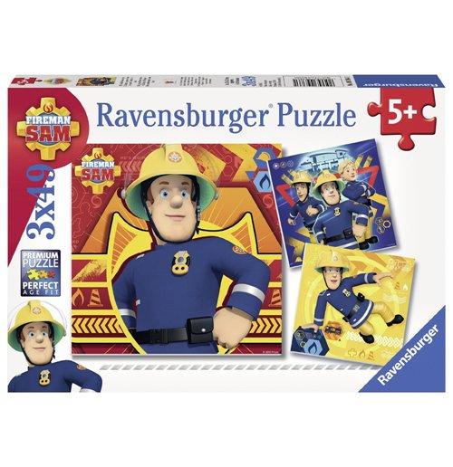 Image of Ravensburger 09386 - Puzzle 3x49 Pz - Sam Il Pompiere