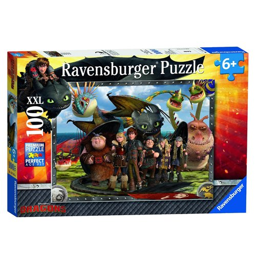 Image of Ravensburger 10549 - Puzzle XXL 100 Pz - Dragons