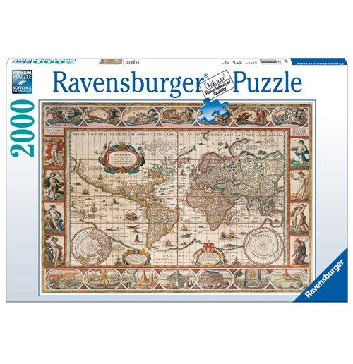 Image of Ravensburger 16633 - Puzzle 2000 Pz - Mappamondo 1650
